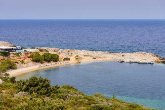 Limnionas Beach Strandbucht auf der Kéfalos Halbinsel