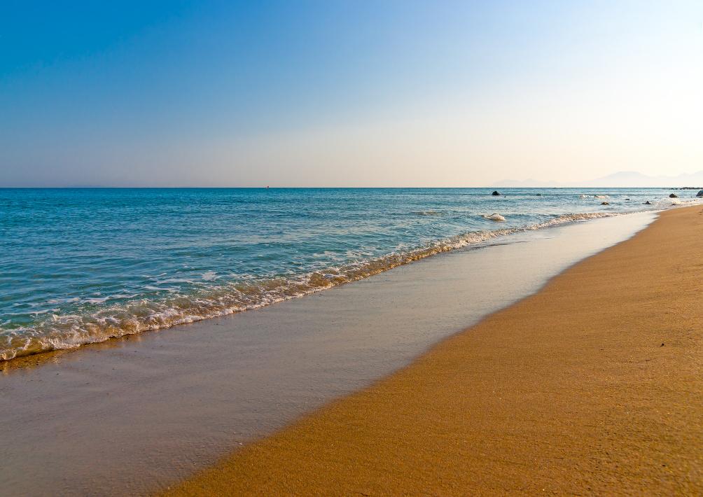 Golden Beach am Kap Helona bei Kardámena