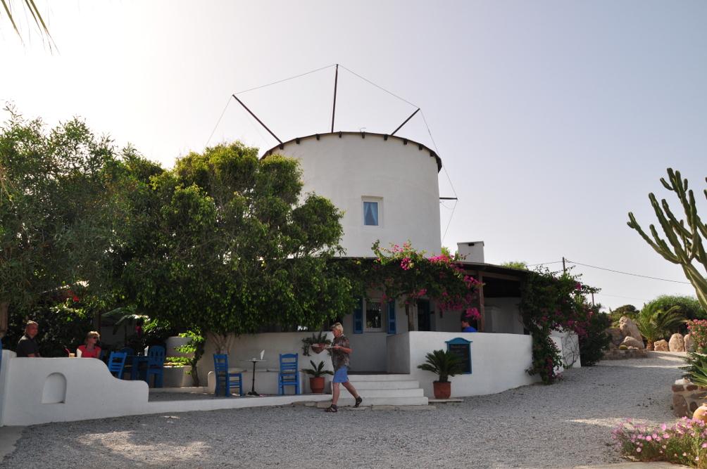 Café Grosse Mühle auf der Kéfalos Halbinsel
