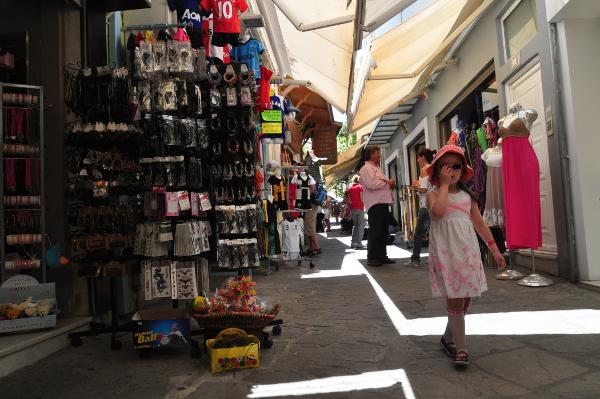 Shopping Gasse Iféstou in Kos-Stadt