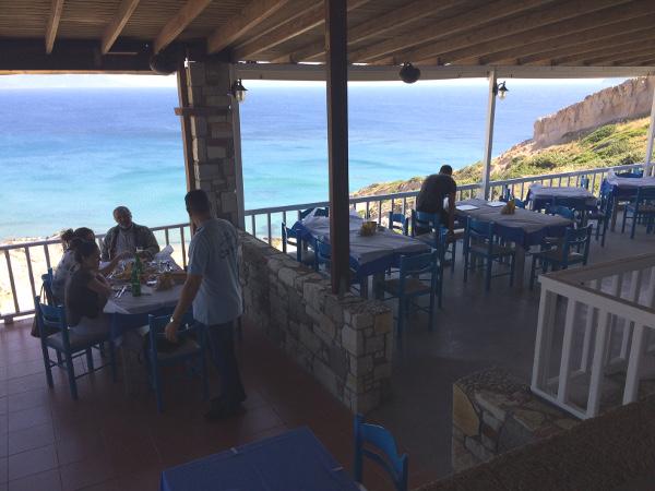 Terrasse der Taverne Camel Beach
